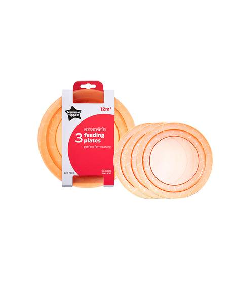 Tommee Tippee Essentials 3X PLATES (Orange)