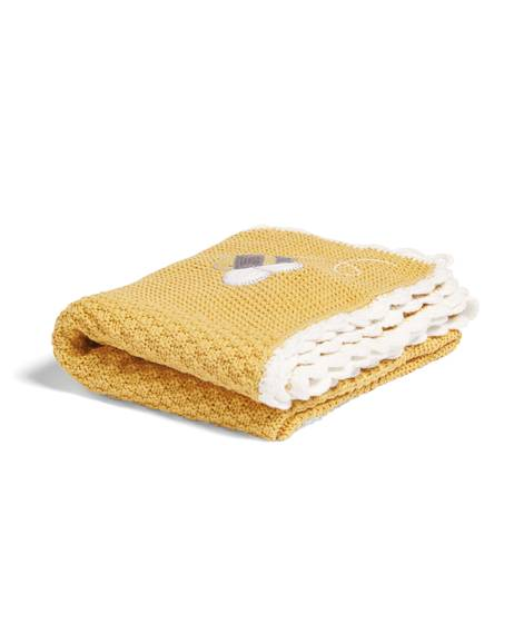 Knitted Blanket(70x90cm) - Bee Happy