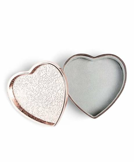 Rose Gold - Heart Trinket Box