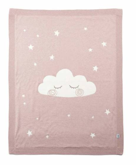Knitted Cloud Blanket - Pink