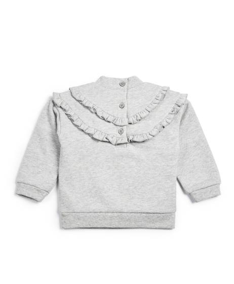 Metallic Frill Sweater