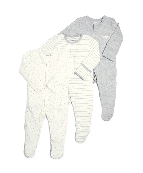 Stars Sleepsuits - 3 Pack
