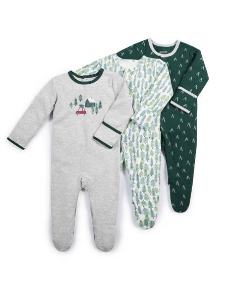 Forest Sleepsuits - 3 Pack