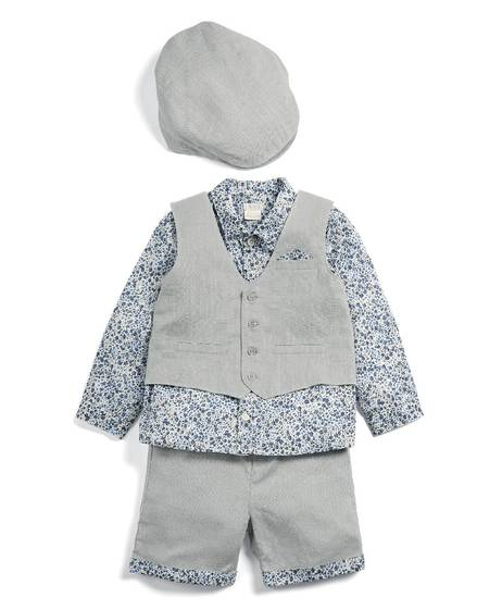 Liberty Bodysuit, Waistcoat and Shorts Set - 3 Piece