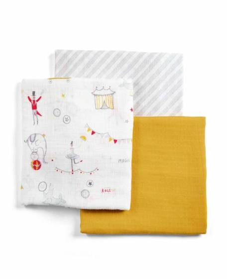 Large Muslin Squares (Pack of 3)