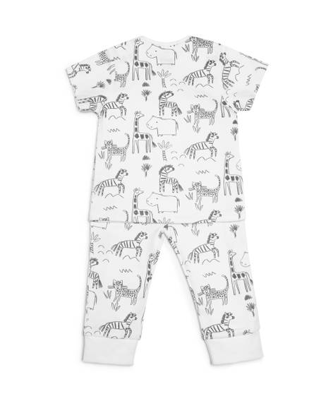 Animal Jersey Pyjamas - 2 Piece Set