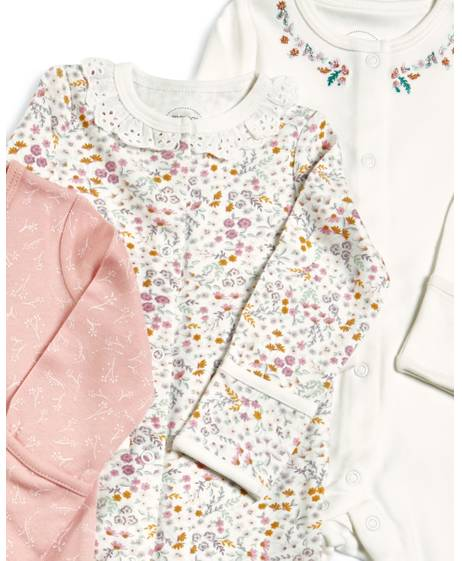Floral Sleepsuits -3 Pack