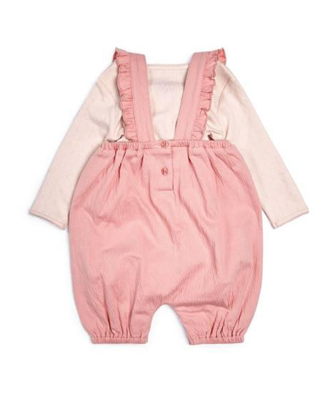 Crinkle Jersey Dungarees & Bodysuit - 2 Piece Set