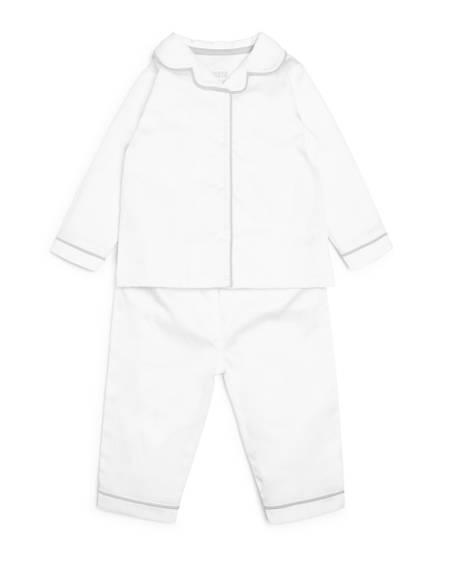 White Woven Pyjamas - 2 Piece Set