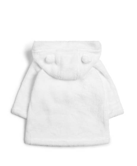 Faux Fur Dressing Gown - White