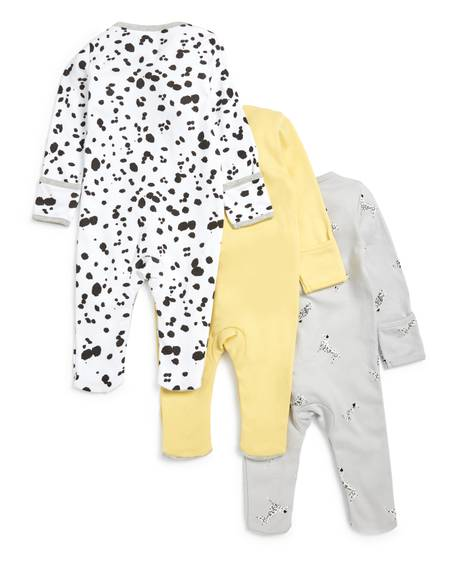 Dalmatian Jersey Sleepsuits - 3 Pack