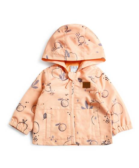 Apple Print Raincoat