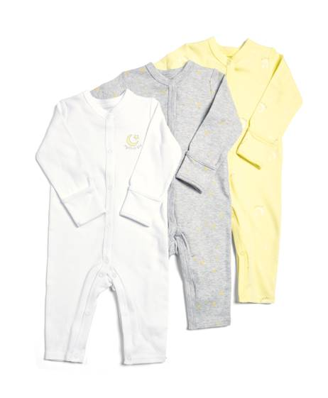 Eid Yellow Romper - 3 Pack