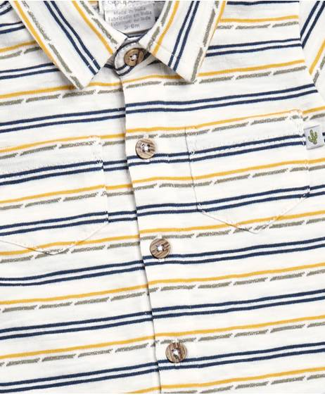 Broken Stripe Polo