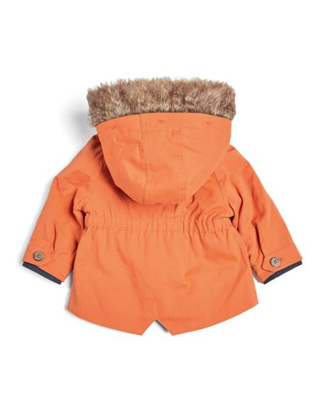 Orange Parka Coat -3 Piece