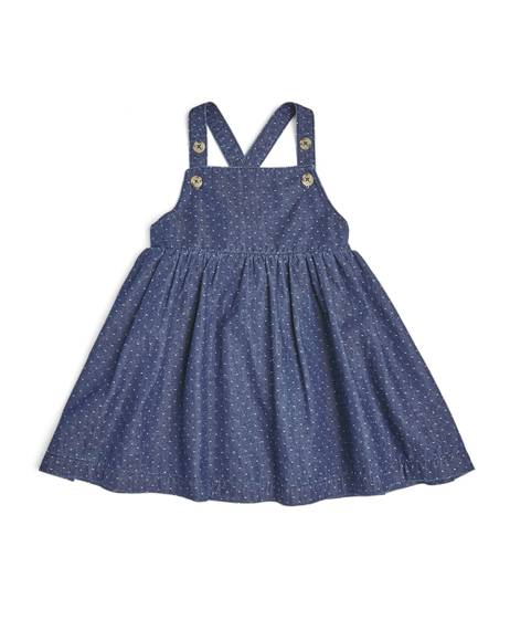 Dobby Denim Pinny Dress