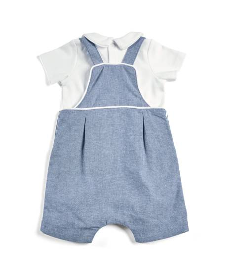 Shortie Dungaree & Polo Shirt Set