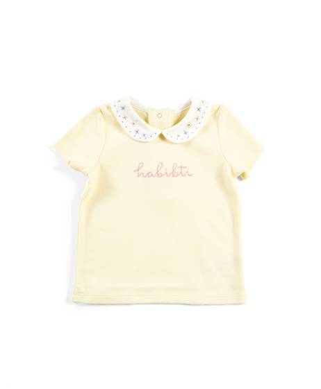Yellow Collared Slogan T-Shirt