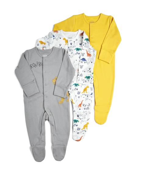 Pack of 3 Dino Sleepsuits