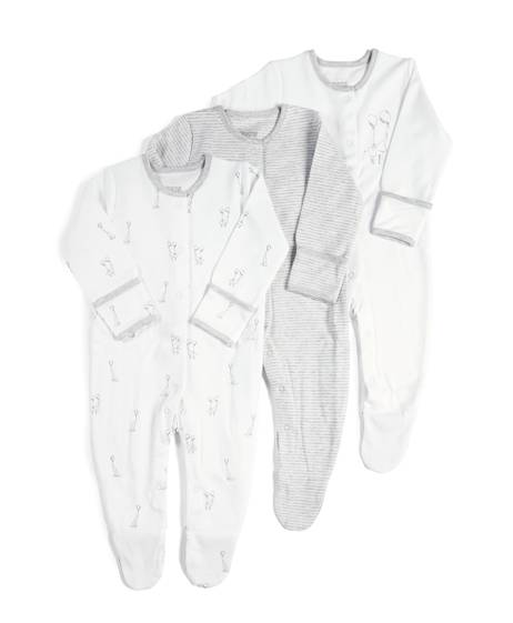 Pack of 3 Elephant Sleepsuits
