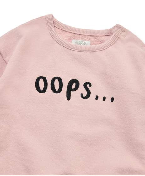 OOPS SLOGAN SWEATER