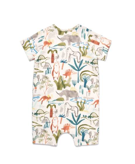 SAFARI All-over-print SHORTIE Romper