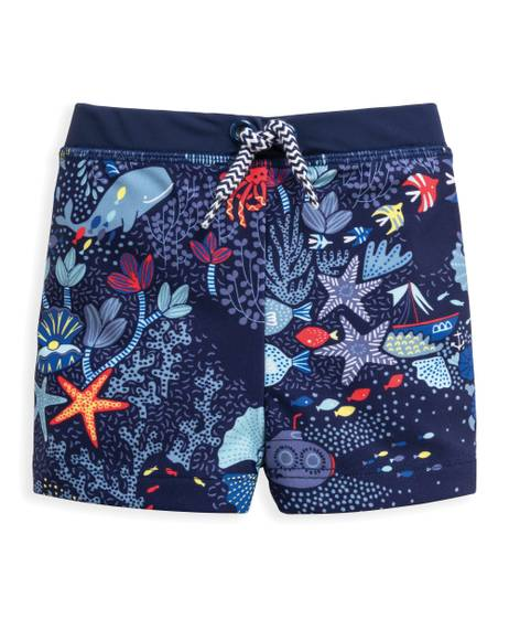 Underwater Print Swim Shorts