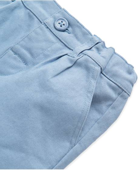 Woven Blue Shorts