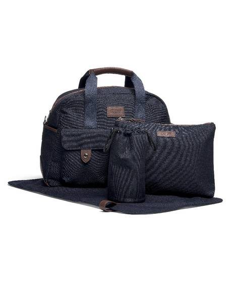 Bowling Style Changing Bag with Bottle Holder - Navy