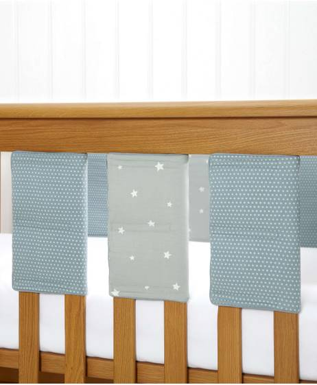 Millie & Boris - Boys Cot Bar Bumpers (pack of 8)