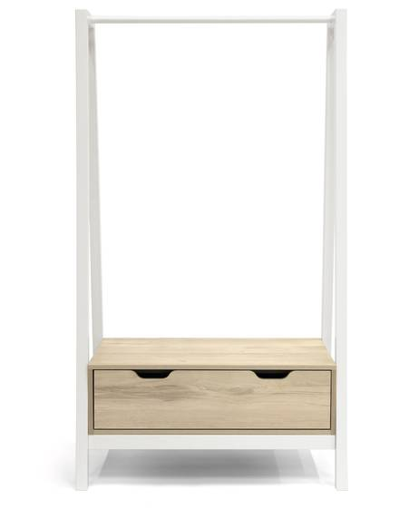 Lawson Clothes Rail - White/Natural