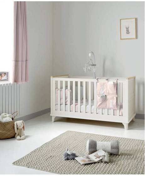 Lucca Adjustable Cot to Toddler Bed - Ivory Oak