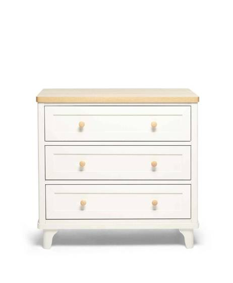 Lucca 3 Drawer Nursery Dresser & Changer Unit - Ivory Oak