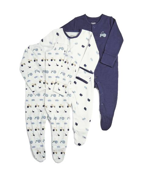 3Pack of  FARM Sleepsuits