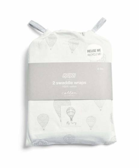 2 Pack Swaddle Wraps - Balloon