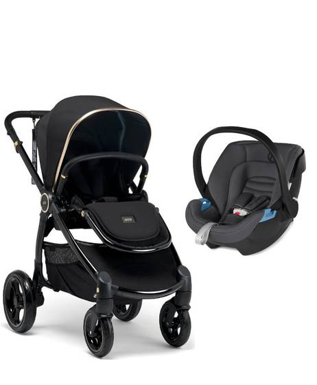 Ocarro Stroller - Black Diamond with Aton XXL Comfy Grey