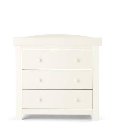 Mia Sleigh White - Cotbed & Dresser/Changer Set