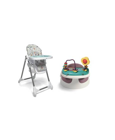 Baby Snug - Dusky Rose & Snax Highchair - Miami Beach