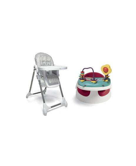 Baby Snug - Red & Snax Highchair - Grey Spot