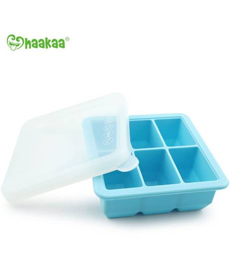 Silicone Baby Food Freezer Tray - 6x cup - Blue