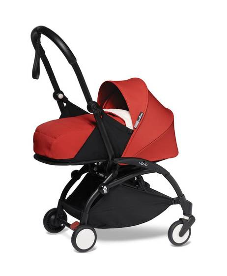 Babyzen YOYO2 Newborn Black Frame 2 Piece Set- Red