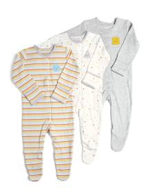 Shapes Sleepsuits -3 Pack