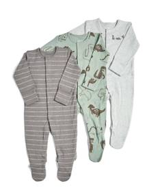 3 Pack of Dinosaur Sleepsuits